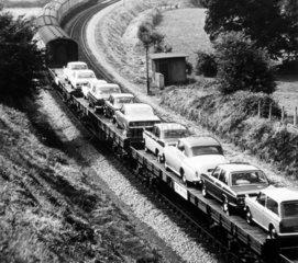 Motorail service  May 1977.