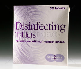 Contact lens disinfecting tablets for soft contact lenses  1999.
