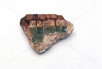 Specimen of mosaic faced Roman concrete. 130-150 A.D.
