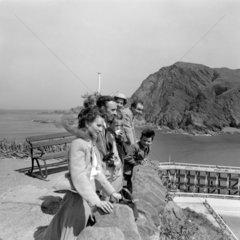 Tourists at Ilfracombe  Devon  1953.