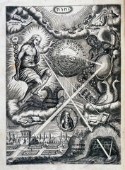 Frontispiece from Kircher's 'Ars Magna Lucis Et Umbrae'  1646.