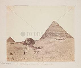 'Le Sphinx avec les Pyramides'  1857