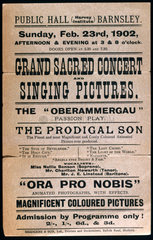 Advertisement for a moving picture show