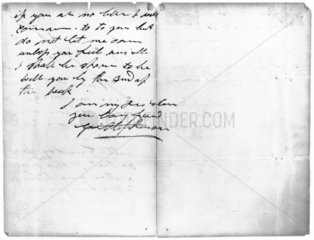 Letter from George Stephenson to Ellen Gregrory  c 1840-1848.