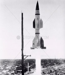 Hermes A-1 test rocket  Marshall Space Flight Center  1 May  1950.