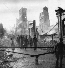 Coventry after German bombing raid  17 November 1940.