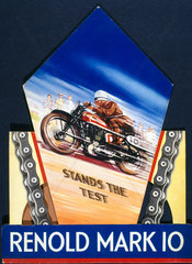 'Renold Mark 10'  motorcycle chain  poster  c 1930s.