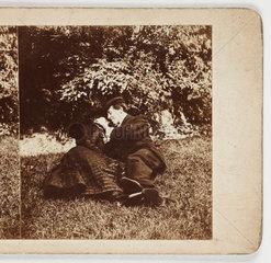 Lovers  c 1895 .