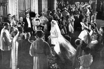 The wedding of Grace Kelly and Prince Rainier  April 1956.