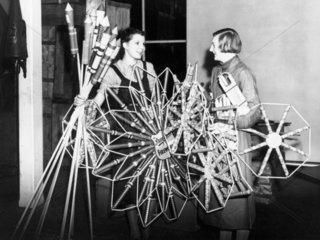 Women holding fireworks at the Standard Fir