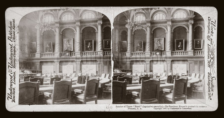 'Interior of Upper 'Raad' (legislative assembly)  Pretoria  South Africa'  1901.