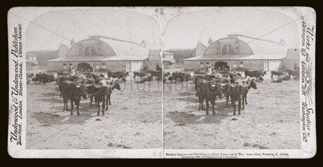 'Building in which Prisoners of War were tried  Pretoria  South Africa'  1901.