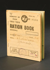 Ministry of Food ration book  1952-53.