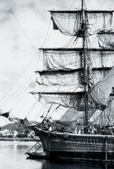 European square-rigged sailing vessel  c 1930.