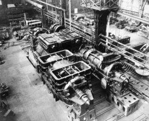 Turbine machinery  c 1930s.