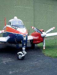 De Havilland DH 104 Devon aircraft  Wroughton  Wiltshire  1986.
