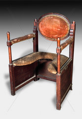 A collapsible parturition chair  1701-1830.