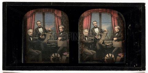 Stereo-daguerreotype of Antoine Claudet  c 1853.