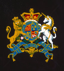 Coat of arms from door of Goldsworthy Gurney steam coach  1827.