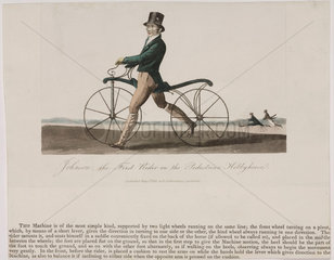 'Johnson  the First Rider on the Pedestrian Hobby Horse'  1819.