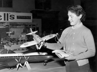 Exhibition of model planes  Manchester Corn Exchange  March 1956.