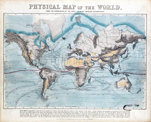 'Physical map of the World'  1849.