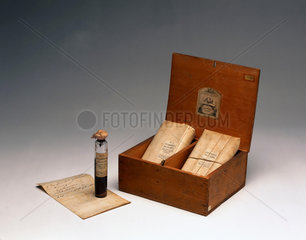 Medicine chest for cholera  English  1849-1900.