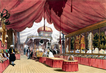 Turkish No 2 stand at the Great Exhibition  Crystal Palace  London  1851.
