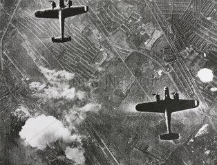 German Dornier 17 bombers in flight  7 September 1940.
