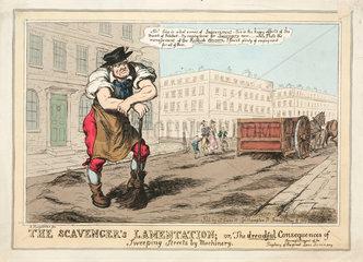 'The Scavenger's Lamentation'  cartoon  1829.