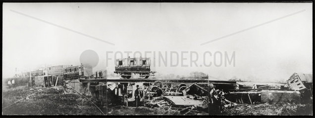 Aftermath of a fatal rail accident at Staplehurst  Kent  9 June 1865.