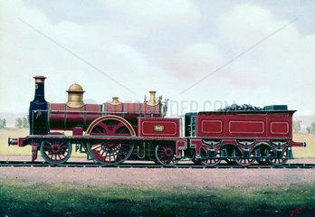2-2-2 express locomotive  no 373  1861.