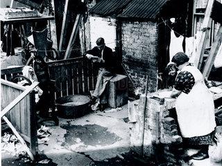 Slum housing in Tooting Grove  London  21 May 1935.