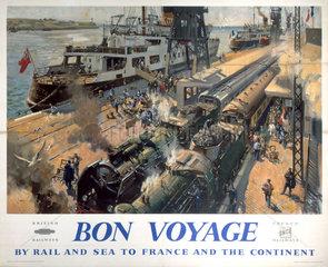 'Bon Voyage'  BR poster  c 1950s.