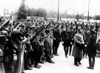 Adolf Hitler at the Radio Exhibition  Berlin  August 1933.