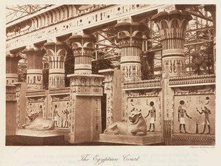 Egyptian Court  the Crystal Palace  Sydenham  London  1911.