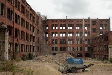 Magdeburg  Deutschland  leerstehende Fabrikhalle des Messgeraetewerks in Magdeburg