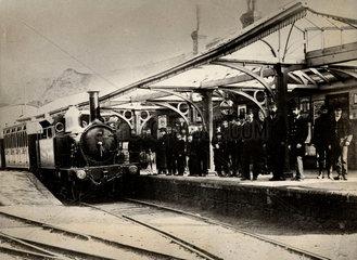 Scottish station  c 1885.