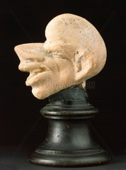 Grotesque head  probably Greek  3rd to 1st centuries BC.