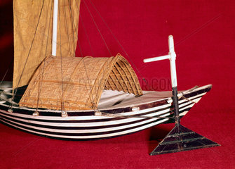 Ulak  or Bengal produce boat  late 19th century.