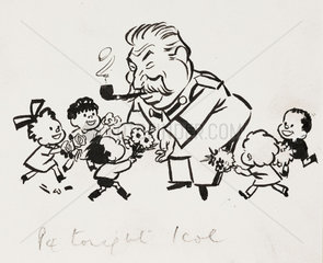 Stalin cartoon  c 1935.