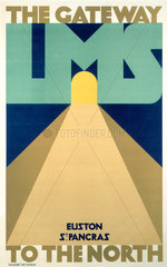 'LMS - The Gateway to the North'  LMS poster  1923-1947.