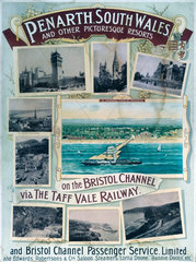'Penarth  South Wales'  TVR poster  1900-1922.