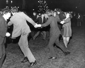 New Year's celebrations  Albert Square  Manchester  31 December 1969.