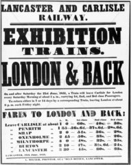 Poster advertising 'Exhibition Trains' run