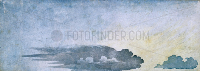'Rain hitting the ground  anvil is spread out'  c 1803.
