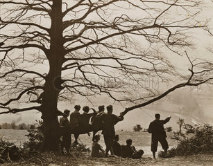 Hikers at Box Hill  20 March 1932.