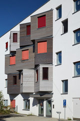 Berlin  Deutschland  Fassade des Studentendorf Adlershof