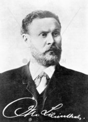Otto Lilienthal  German aviation engineer and designer  c 1890s.