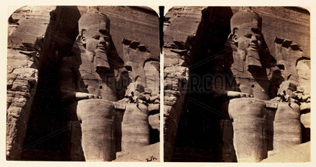 'The Colossal Statue of Rameses at Abou Simbel'  1859.